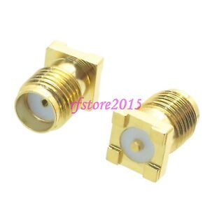 10pcs-Connector-SMA-female-jack-solder-PCB-mount-SMD-SMT-straight-RF-COAXIAL
