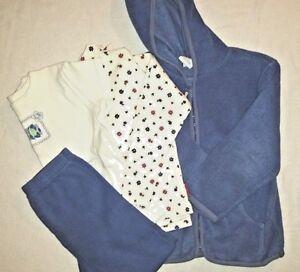 Oshkosh Girls Fleece Zip Up Hoodie, Leggings and 2 Tops Size 5