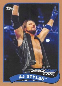 2018-Topps-Heritage-WWE-Bronze-Parallel-Singles-You-Choose