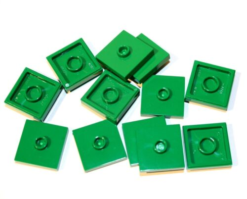 12x Lego ® Plate 2x2 with 1 Noppe centered 87580 Converter Jumper New Green