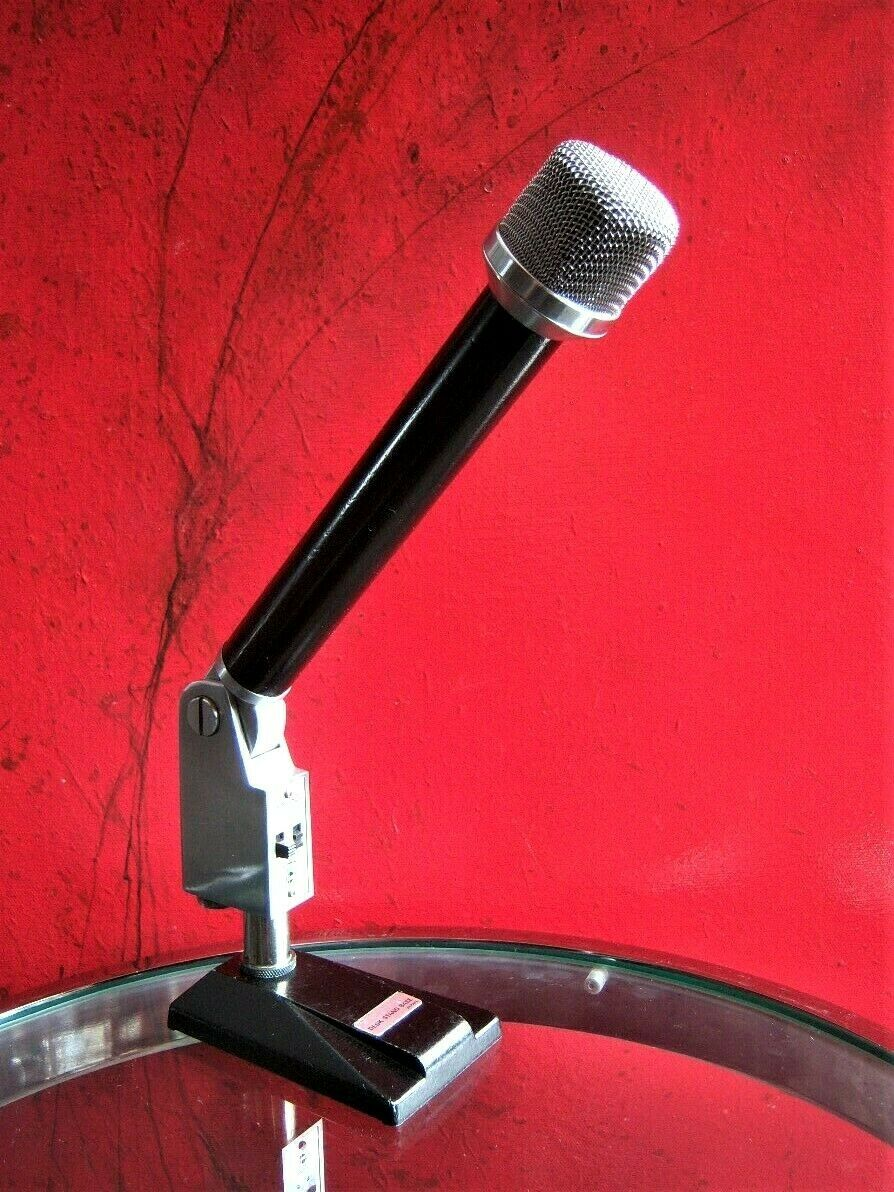 Vintage RARE 1960's Rheem D-822 dynamic cardioid microphone Dual Z old w stand