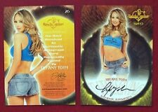 2013 Benchwarmer Thanksgiving 11-28-13 Tiffany Toth Autograph Card # 26