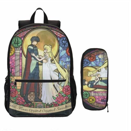 Sailor Moon Girls Sac à dos Set gamelle bandoulière stylo étui enfants cadeau LOT