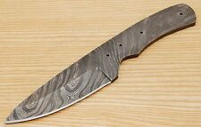 Custom Black Twist Damascus Steel Drop Point Blank Blade J512 For Hunting Knife