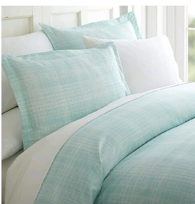 Thatch light bluee Patterned Performance  King Cal-king 3-Piece Duvet Cover Set