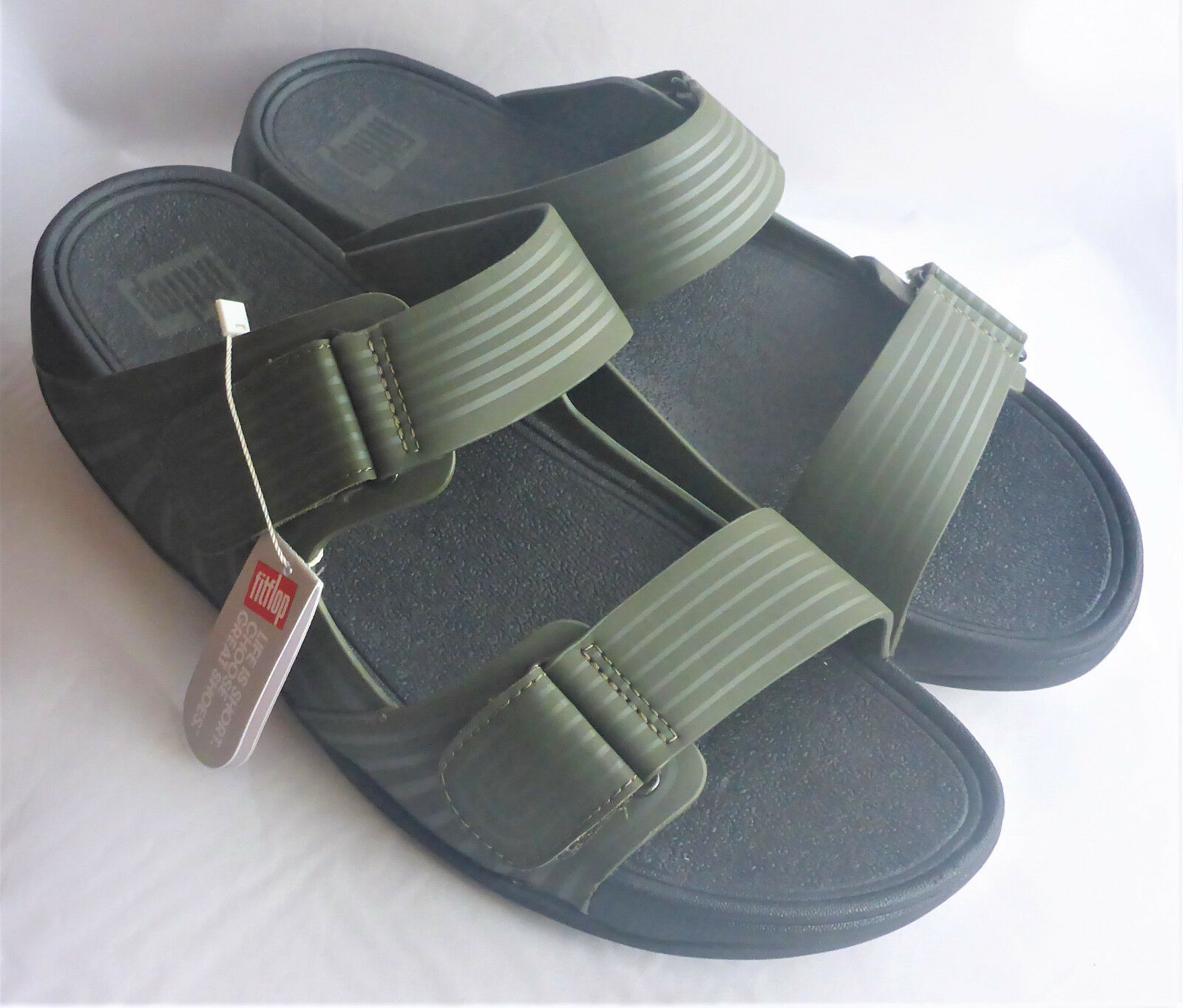 Fitflop Gogh Moc Pool  Slide Adjustable Everglades Green  Pool Uomo Sandales Beach Sz 11 36b3fa