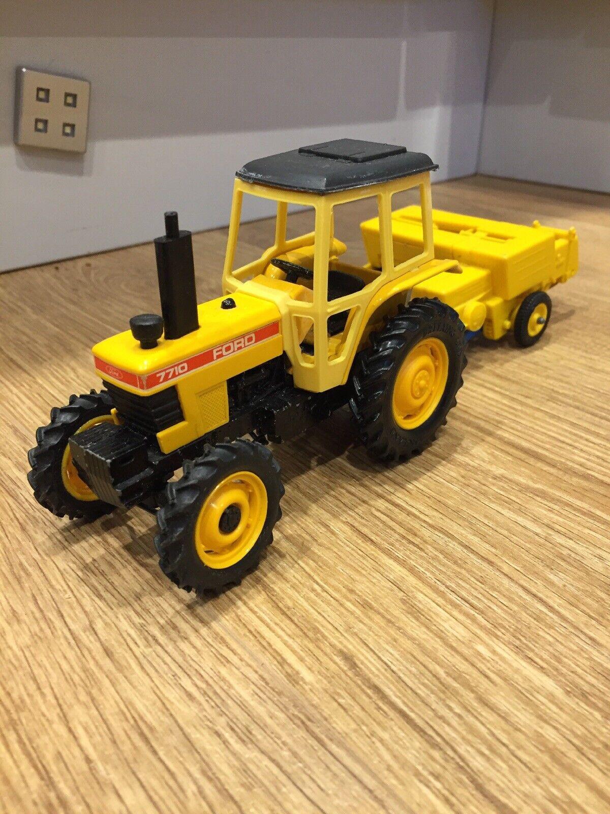 BRITAINS Auto WAY FORD 7710 tracteur Bamford Botteleuse  Set 1 32 Scale Farm  vente directe d'usine