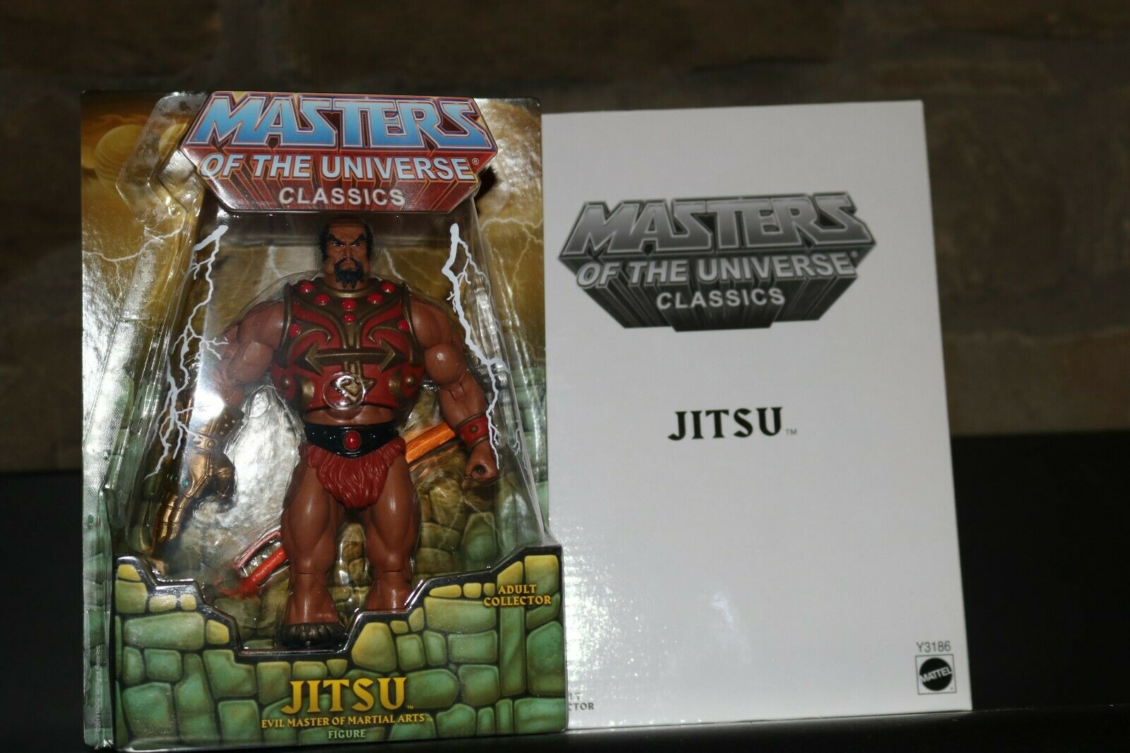 MASTERS OF THE UNIVERSE CLASSICS JITSU MOTUC MOC MINT He-Man ORIGINAL RARE