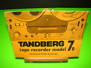 rare vintage tandberg tape recorder model 7b instruction manual ebay rh ebay com Tandberg Camera Tandberg Amplifiers