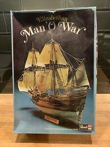 Vintage-Revell-Elizabethan-Man-O-039-War-Sailing-Ship-plastic-model-kit-1-83-1974