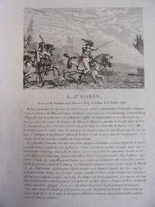 A.j Robin Général De Division Né à Dortan, Le 3 Juillet 1761 Apparence Attractive