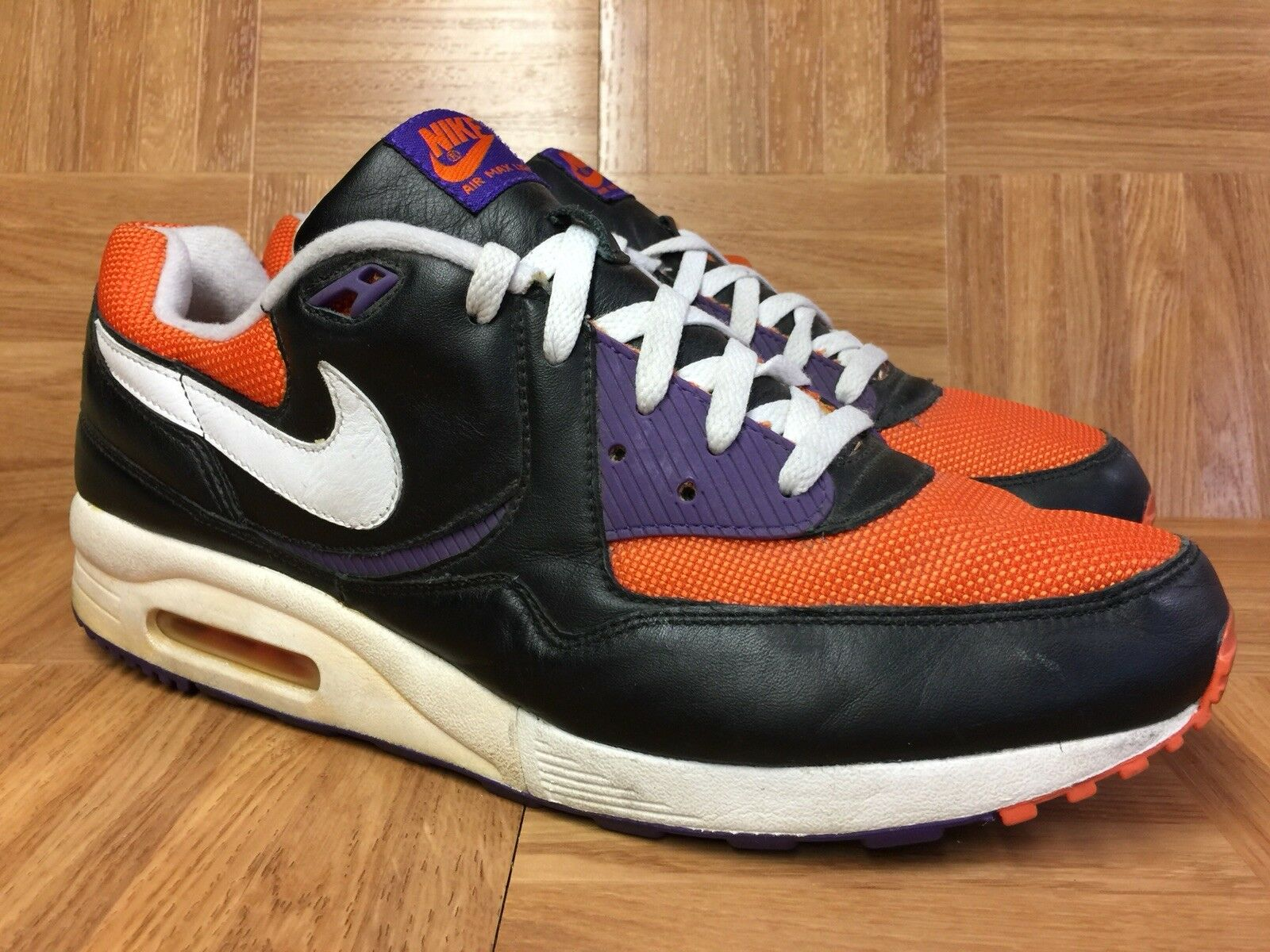 RARE RARE RARE Nike Air Max Light Black orange Blaze Purple Sz 13 315927-012 Halloween a584ce