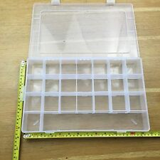 Clear Plastic Storage Organiser Compartment Craft Beads Jewellery Tool Box Case