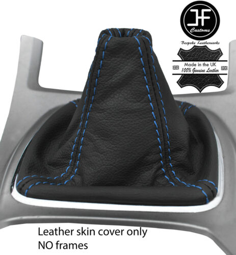 BLUE STITCHING TOP GRAIN REAL LEATHER GEAR GAITER FITS FORD S MAX S-MAX 06-14