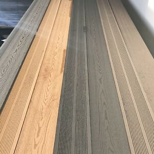 Bull deck decking boards plastic wood composite grain for Plastic composite decking