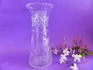 Etched-Lead-Crystal-Vase-Clear-Cut-Crystal-Vase-Art-Deco-Classic-Design