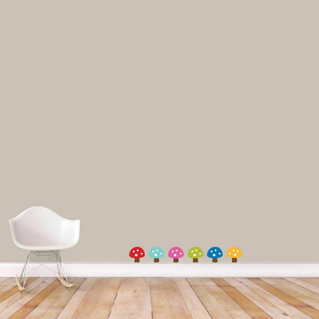 Woodland Forest Mushrooms Printed Wall Decal Set Set Set - Animals, Nursery, Kids Room 57c1f7