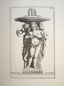 SûR Thomassin (1652-1732) Gravure Xviii° Fontaine Mythologie Versailles Jardin Flute
