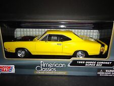 Motormax Dodge Coronet Super Bee 1969 Yellow 1/24 73315