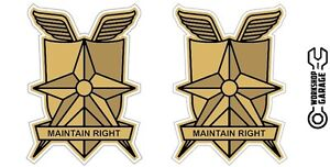 New-Mad-Max-MFP-MAIN-FORCE-DECAL-STICKER-MAINTAIN-RIGHT-TWIN-SET