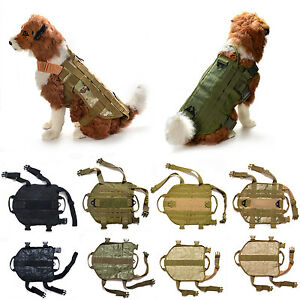 Tactical Police Dog K9 Military US Vest Service Canine Molle Harness