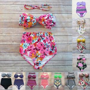 Women-Sexy-High-Waist-Bikini-Swimsuit-Set-Padded-Bra-Two-Piece-Printing-Swimwear