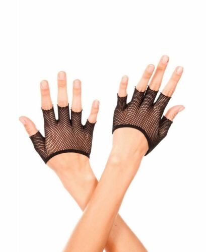 Music Legs 434 Short Fishnet Fingerless Gloves