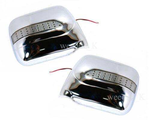 HOLDEN RODEO VAUXHALL 1988-1997 L.E.D CHROME MIRROR COVER FOR ISUZU TF TFR