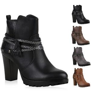 größte Auswahl am besten einkaufen Shop für authentische Details zu 893208 Ankle Boots Damen Nieten Prints Stiefeletten Absatz New  Look