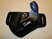 S&w J Frame 38 Cal. Leather,sob, Owb Belt Holster, Right Hand, Slim Design
