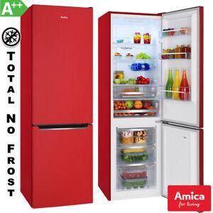 Amica-Kuehl-Gefrierkombination-A-Rot-Total-No-Frost-Kuehlschrank-Umluftkuehlung