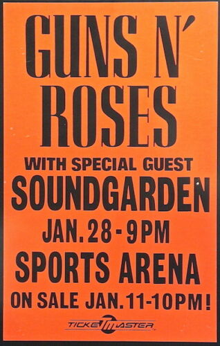 0465 Vintage Music Poster Art Guns And Roses