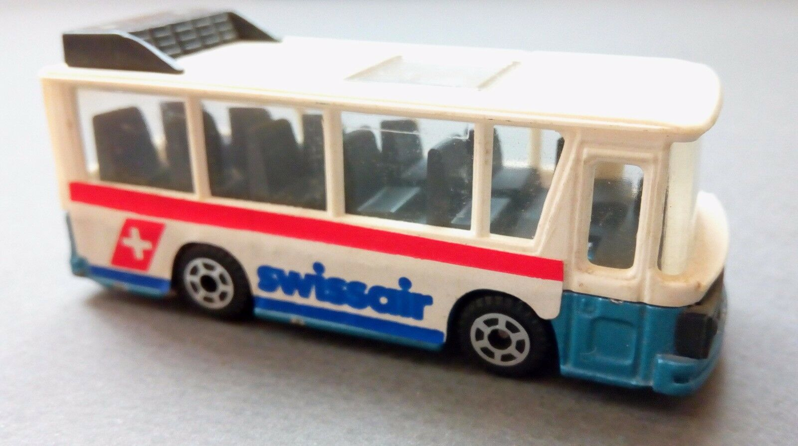 Vintage toy Scania Bus model 1 83 Swissair collection