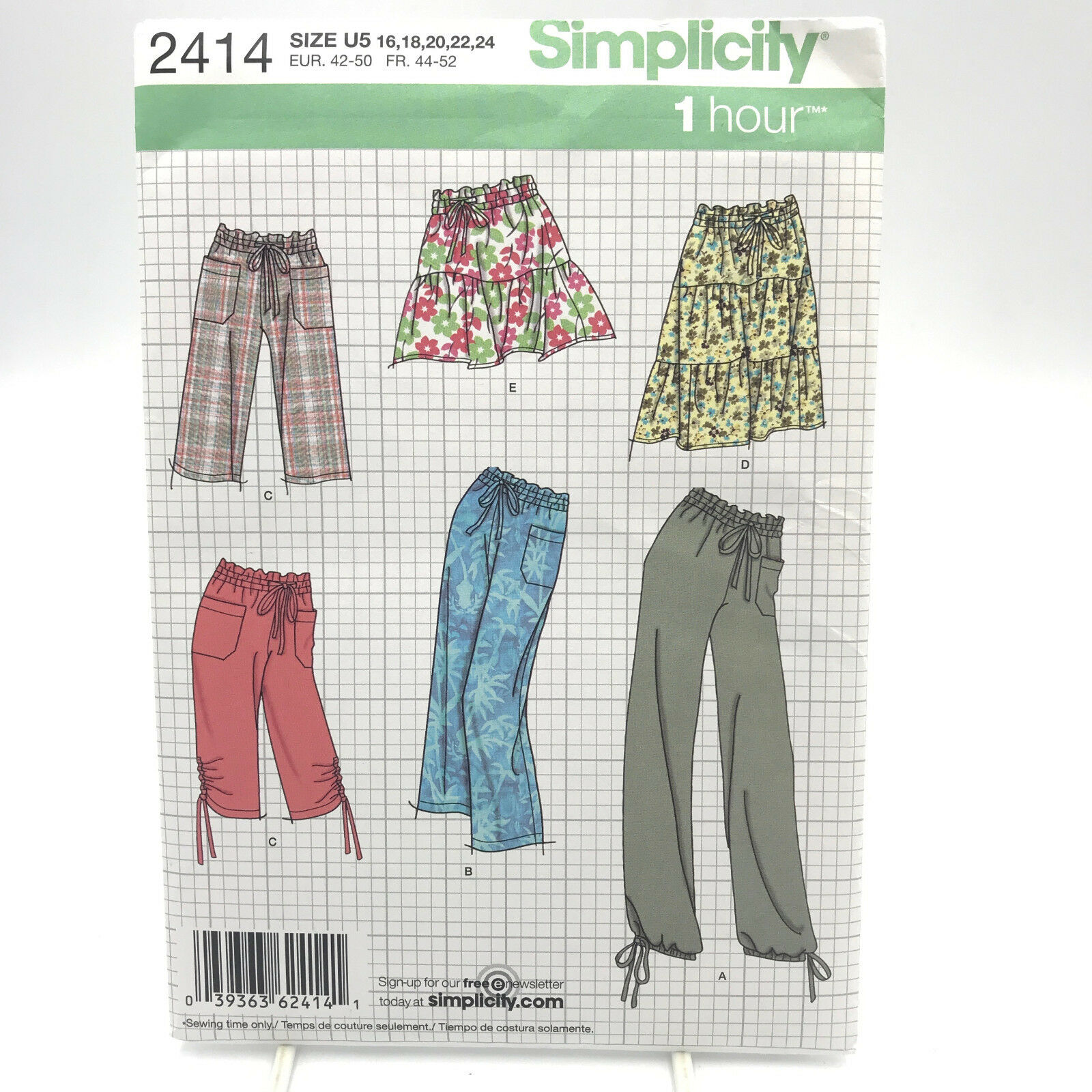 and Skirt Sewing Patterns by Karen Z Sizes 16-24 Shorts Simplicity Easy to Sew Womens Pants