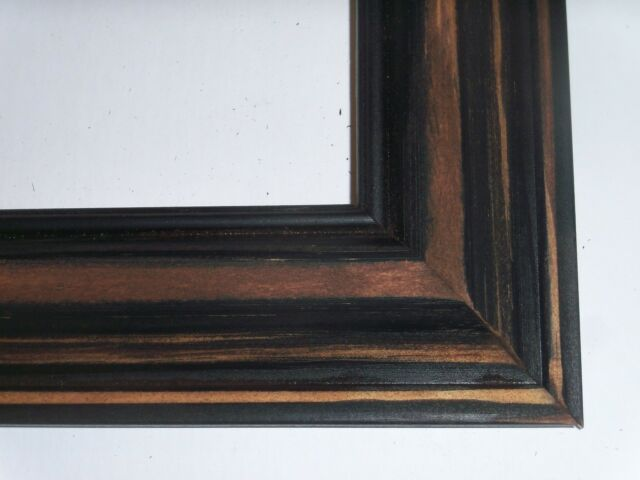 16x29 Primitive-Black Picture Frames-Solid Wood-GRUNGY