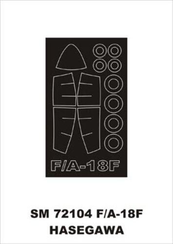 Montex Mini Mask 1:72 F-18 F for Hasegawa Kit Spraying Stencil #SM72104