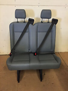 2015 2016 ford transit van 2 person bench seat gray vinil inv 3 with brackets ebay. Black Bedroom Furniture Sets. Home Design Ideas