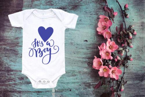 It/'s A Boy Baby Vest Baby Announcement Vest Cute Baby Vest  Toddler  42