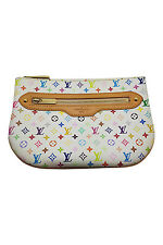 *LOUIS VUITTON* WHITE MULTICOLOR MURAKAMI CLUTCH BAG