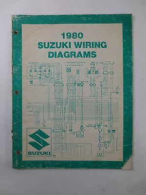 1980 Suzuki Wiring Diagrams Manual Fa50t Or50t Ts125t Gs850glt Ebay