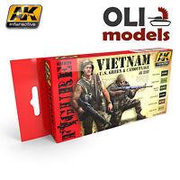Figure Series Vietnam Us Green & Camouflage Paint Set 6x17ml Ak Interactive 3200