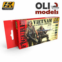 Figure Series Vietnam Us Green & Camouflage Paint Set 6x17ml Ak Interactive 3200
