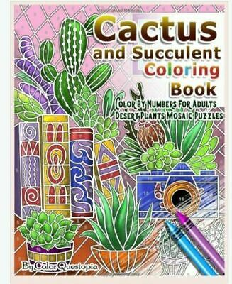 Cactus and Succulent Coloring Book Color by Numbers For ...