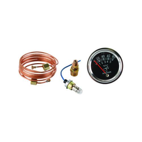 "80lb Oil Pressure Gauge Ford Tractor Non-lighted 72/"" copper line"