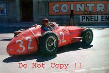 Juan Manuel Fangio Maserati 250F Winner Monaco Grand Prix 1957 Photograph 2