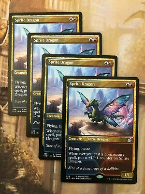 The Gathering Mtg ikoria Sprite Dragon X4 M//Quase Perfeito Magic