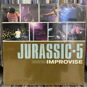 "JURASSIC 5 - IMPROVISE / CONCRETE SCHOOLYARD / AND CLAY (12"")  1999!!!  RARE!!!"