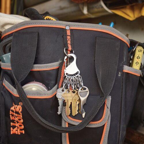 Nite Ize KeyRack Locker Stainless Keychain w//Locking S-Biner Key Clips 6-Pack