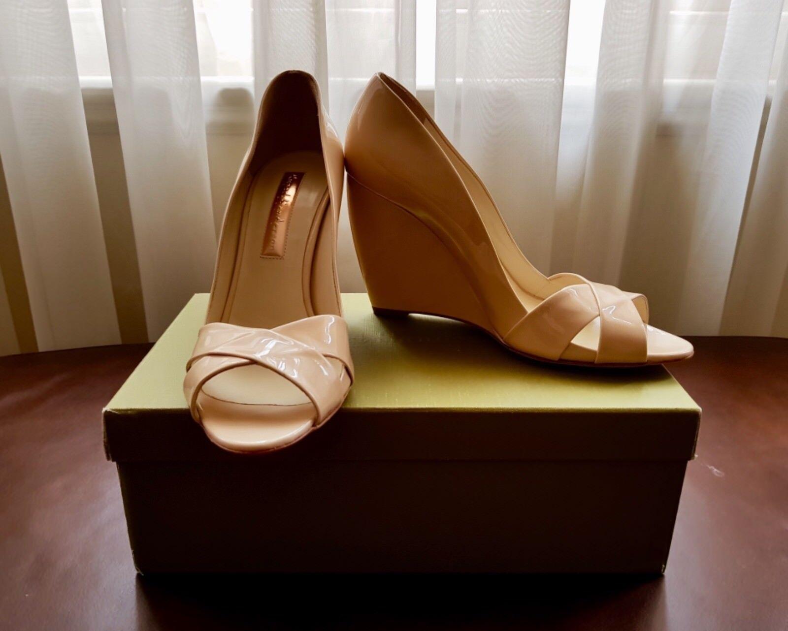 Rupert Sanderson shoes Kai High Wedge Peep Toe