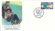 Canada FDC Sc # 1045 International Youth Year with Fleetwood cachet- WW 7305
